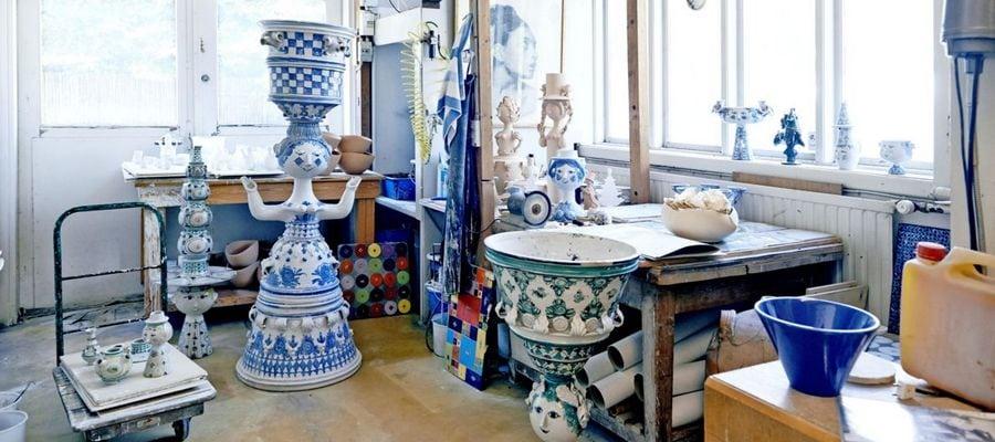 Bjørn Wiinblad og Karen Blixen's hjem